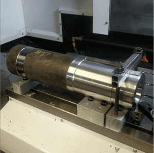 CNC Machined Drive shaft - Runout Table Roll